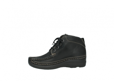 wolky lace up boots 06242 roll shoot 90000 black nubuck_12