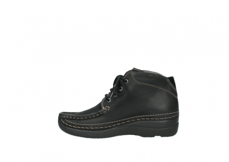 wolky lace up boots 06242 roll shoot 90000 black nubuck_13