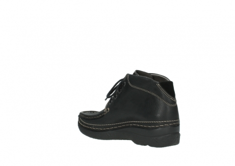 wolky lace up boots 06242 roll shoot 90000 black nubuck_16