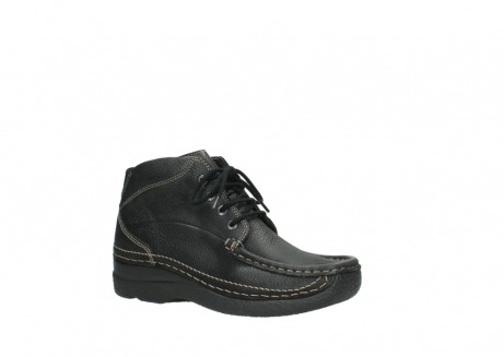 wolky lace up boots 06242 roll shoot 90000 black nubuck_3