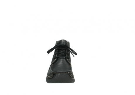 wolky lace up boots 06242 roll shoot 90000 black nubuck_7