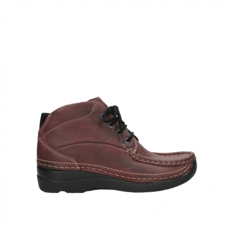 wolky lace up boots 06242 roll shoot 90510 bordo nubuck