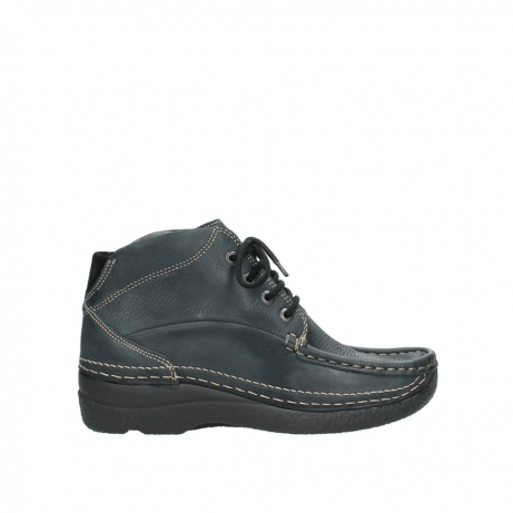 wolky lace up boots 06242 roll shoot 90800 dark blue nubuck