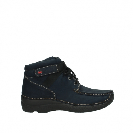 wolky lace up boots 06294 seamy destiny 50800 blue oiled leather