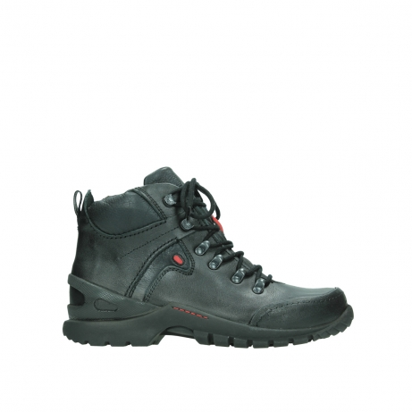 wolky bottines a lacets 06500 city tracker 30000 cuir noir