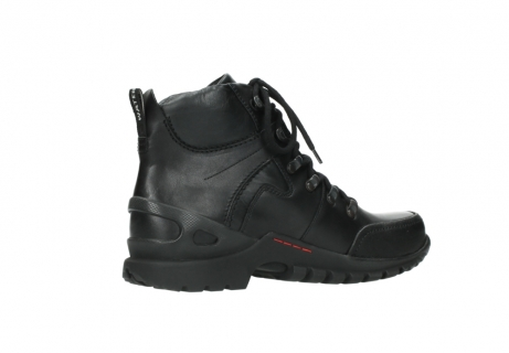 wolky lace up boots 06500 city tracker 30000 black leather_11