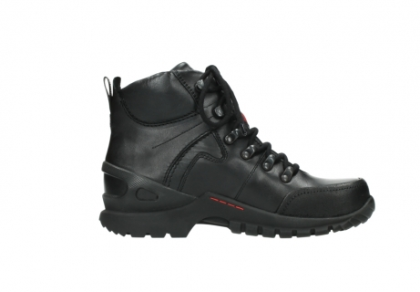 wolky lace up boots 06500 city tracker 30000 black leather_13
