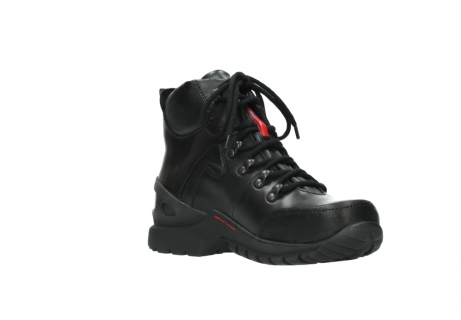 wolky lace up boots 06500 city tracker 30000 black leather_16