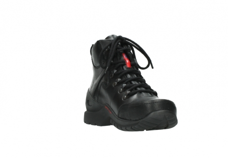 wolky lace up boots 06500 city tracker 30000 black leather_17