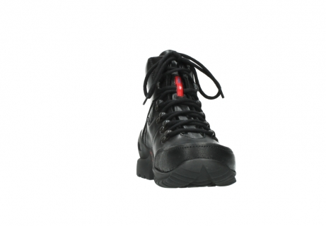 wolky lace up boots 06500 city tracker 30000 black leather_18