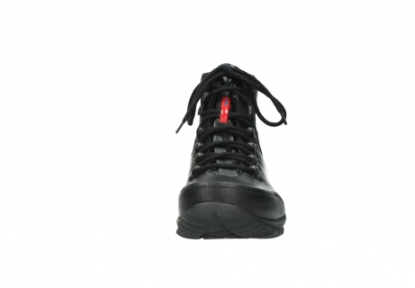 wolky lace up boots 06500 city tracker 30000 black leather_19