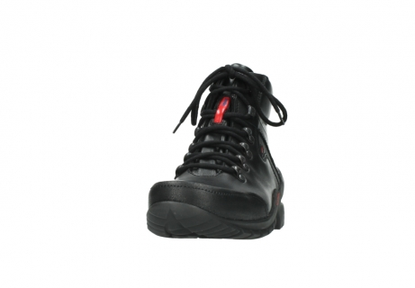 wolky lace up boots 06500 city tracker 30000 black leather_20