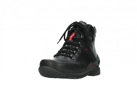 wolky lace up boots 06500 city tracker 30000 black leather_21