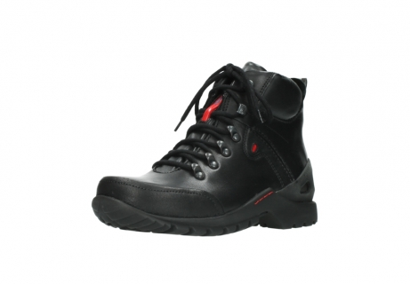 wolky lace up boots 06500 city tracker 30000 black leather_22