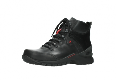 wolky lace up boots 06500 city tracker 30000 black leather_23