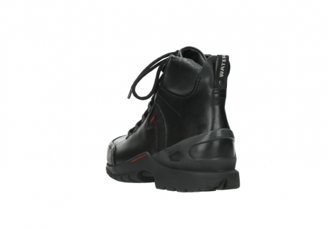 wolky lace up boots 06500 city tracker 30000 black leather_5