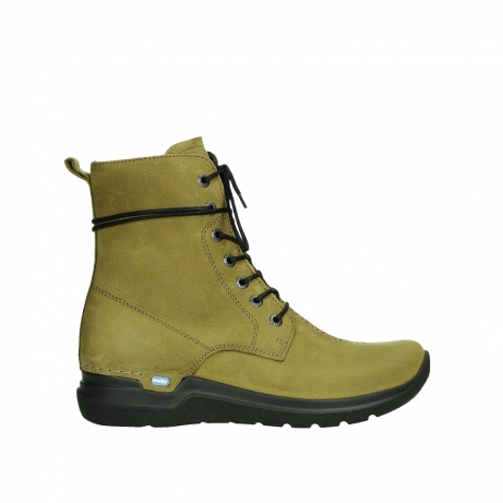 wolky lace up boots 06601 walla walla 11940 mustard nubuckleather