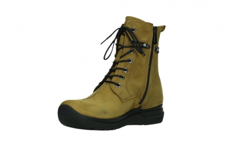 wolky lace up boots 06601 walla walla 11940 mustard nubuckleather_10