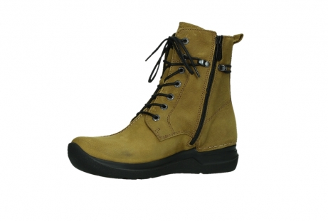 wolky lace up boots 06601 walla walla 11940 mustard nubuckleather_11
