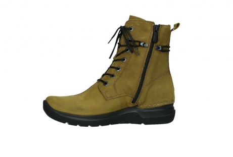 wolky lace up boots 06601 walla walla 11940 mustard nubuckleather_12