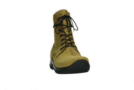 wolky lace up boots 06601 walla walla 11940 mustard nubuckleather_6