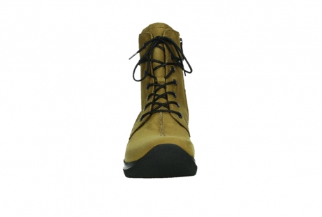 wolky lace up boots 06601 walla walla 11940 mustard nubuckleather_7