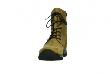 wolky lace up boots 06601 walla walla 11940 mustard nubuckleather_8