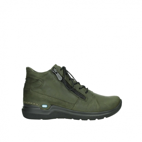 wolky lace up boots 06606 why 11715 bottlegreen nubuckleather