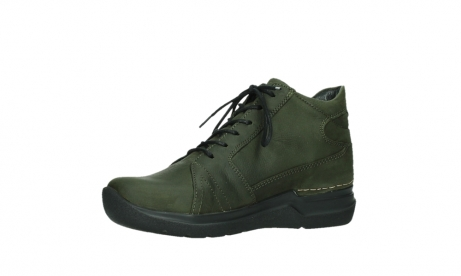 wolky lace up boots 06606 why 11715 bottlegreen nubuckleather_11