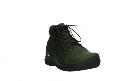 wolky lace up boots 06606 why 11715 bottlegreen nubuckleather_5