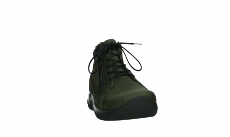 wolky lace up boots 06606 why 11715 bottlegreen nubuckleather_6