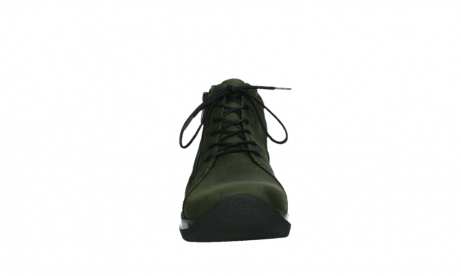 wolky lace up boots 06606 why 11715 bottlegreen nubuckleather_7