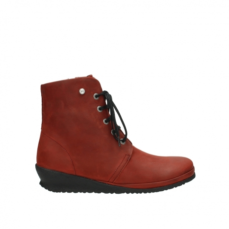 wolky lace up boots 07252 madera 11542 winter red nubuck
