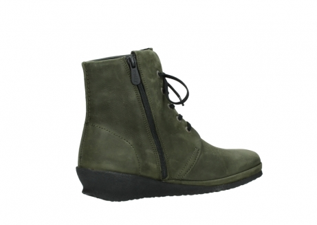 wolky lace up boots 07252 madera 11732 forestgreen oiled nubuck_11