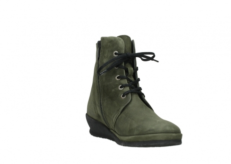 wolky lace up boots 07252 madera 11732 forestgreen oiled nubuck_17