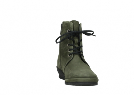 wolky lace up boots 07252 madera 11732 forestgreen oiled nubuck_18