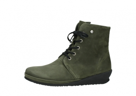 wolky lace up boots 07252 madera 11732 forestgreen oiled nubuck_24