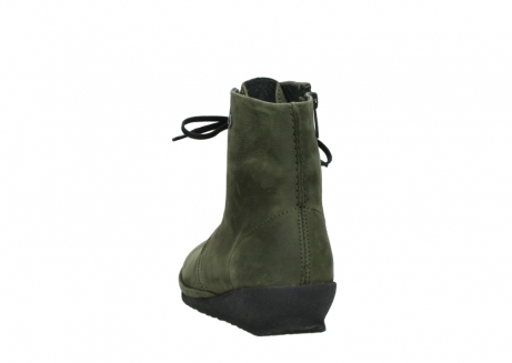 wolky lace up boots 07252 madera 11732 forestgreen oiled nubuck_6