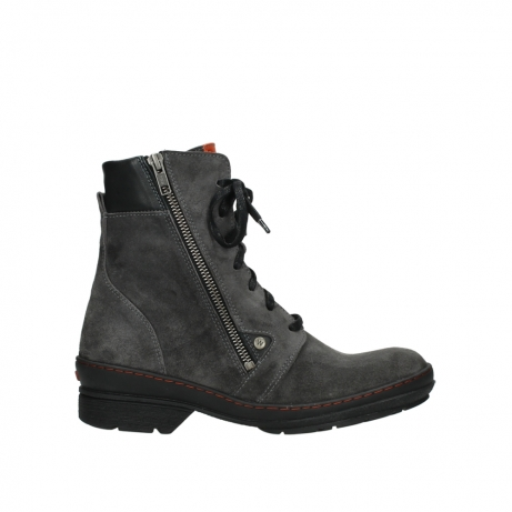 wolky lace up boots 07640 partizan 40210 anthracite suede