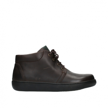 wolky bottines a lacets 08100 kansas 50300 nubuck marron