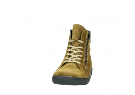 wolky lace up boots 08130 zeus 40920 ocher yellow suede_20