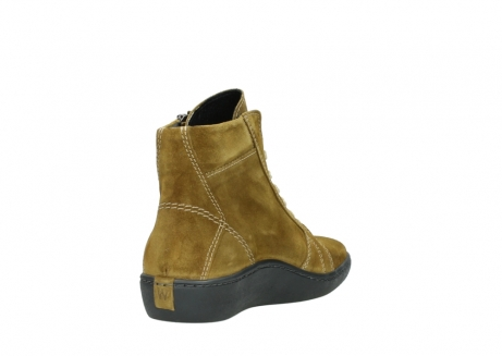 wolky lace up boots 08130 zeus 40920 ocher yellow suede_9