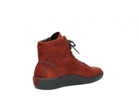 wolky lace up boots 08130 zeus 50540 winter red oiled leather_10