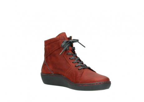 wolky lace up boots 08130 zeus 50540 winter red oiled leather_16