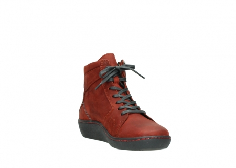 wolky lace up boots 08130 zeus 50540 winter red oiled leather_17