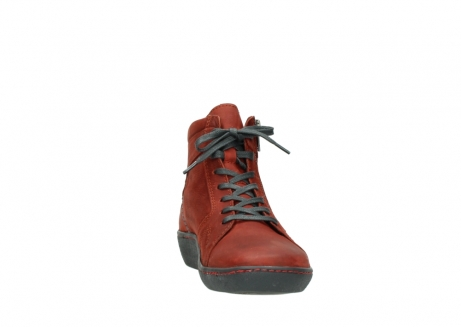 wolky lace up boots 08130 zeus 50540 winter red oiled leather_18