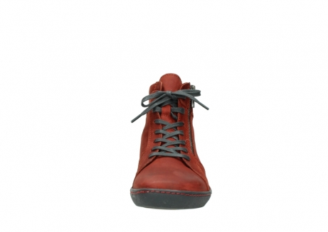 wolky lace up boots 08130 zeus 50540 winter red oiled leather_19