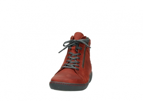wolky lace up boots 08130 zeus 50540 winter red oiled leather_20