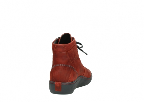 wolky lace up boots 08130 zeus 50540 winter red oiled leather_8