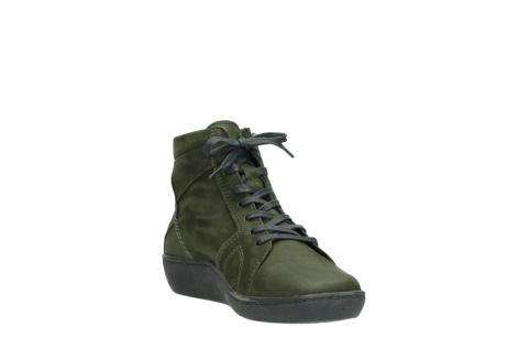 wolky lace up boots 08130 zeus 50730 forest green oiled leather_17